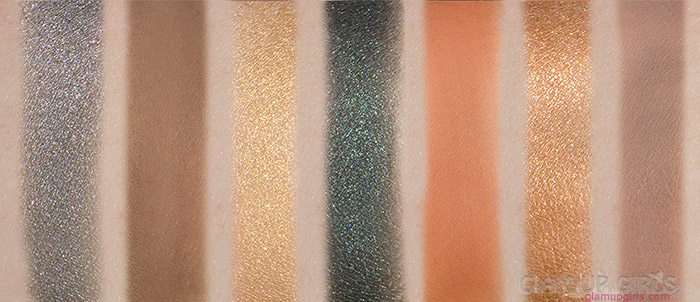 ABH Prism Swatches L to R: Dimension, Parallel, Pyramid, Throne, Saturn, Eternal, Lure