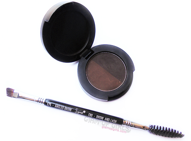 Sigma Brow powder and dual ended brow brush