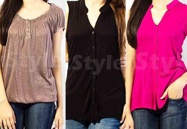 Cotton Jersey Ladies Tops
