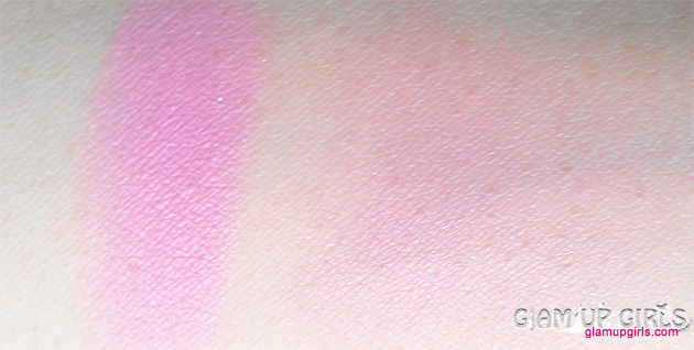 Beauty UK Powder Blush and brush in Isla rose - Review and Swatches