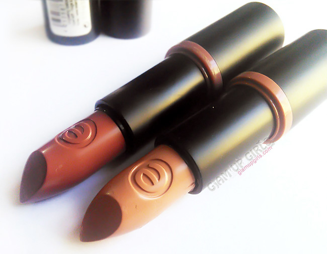 Essence longlasting lipstick in shade Oh So Matte and Barely There - Review and Swatches