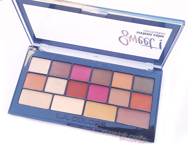 L.A. Colors Sweet! 16 Color Eyeshadow Palette in Brave
