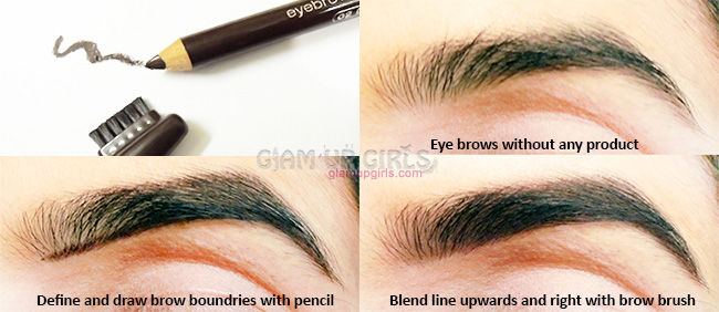 How to groom eye brows with essence pencil