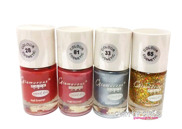 Glamorous Face U.S.A Speed Dry Nail Polish - Review and Swatches