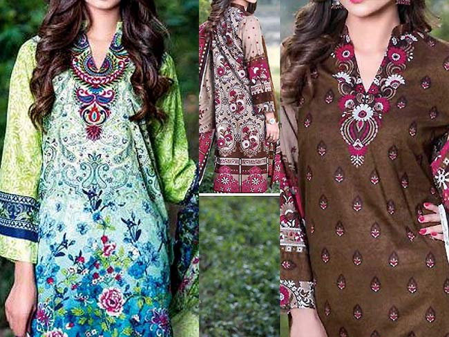 Lawn dresses 2018 in classic