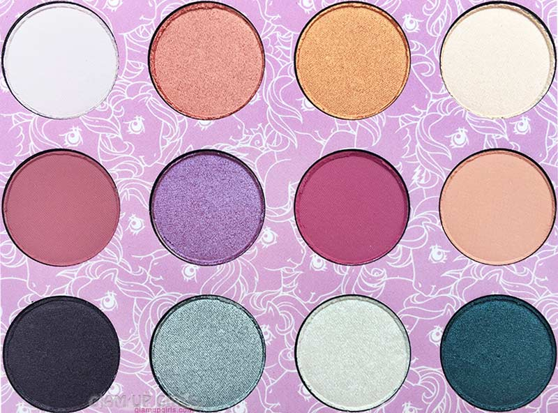 ColourPop My Little Pony Pressed Powder Eyeshadow Palette Closeup