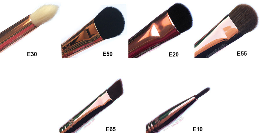Sigma Beauty Ultimate Copper Eye Shadow shading and Liner Brushes