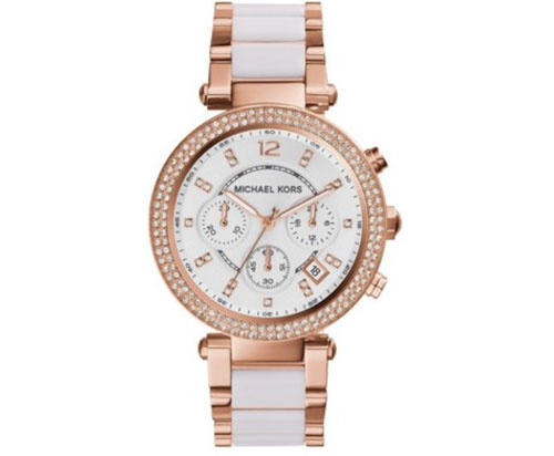 Michael Kors Women's Parker Chronograph Two-Tone Stainless Steel Watch