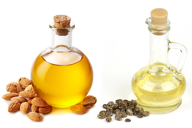 Almond oil and Castor oil for hairs
