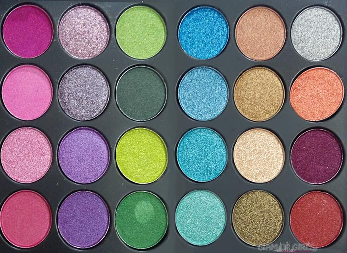 Top right 24 shades from Glamorous Face Eyeshadow Palette